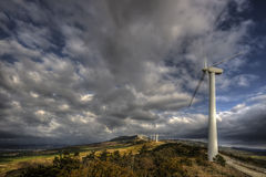 Windmill. Hdr picture of windmill landscape of navarre, spain Royalty Free Stock Photo