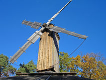 Windmill heritage park Stockholm. One of a windmills in heritage park in Stockholm, Sweden stock images