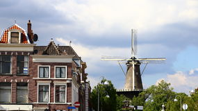Windmill in historic city Stock Image
