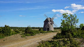 Windmill. Historic windmill on an island in the Baltic Sea Royalty Free Stock Photography