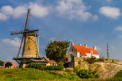 Windmill. Historical windmill at the raampart of Zierikzee, south holland Royalty Free Stock Image