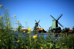 Windmill in Holland. Near Zaandam Royalty Free Stock Photo
