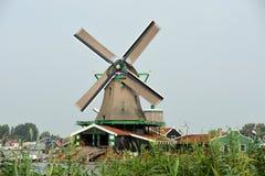 Windmill Holland. Dutch windmill in Holland. Zaanse Schans Stock Photos