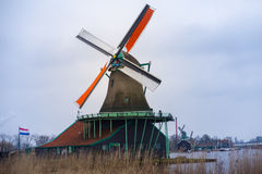 Windmill from Holland. A fully functional windmill from Zanse Schans Stock Images