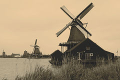 Windmill. Holland, in retro color Royalty Free Stock Photo