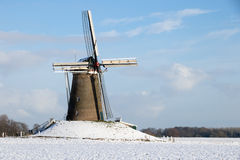 Windmill Holland Winter. Windmill in Holland on a Winter day royalty free stock images