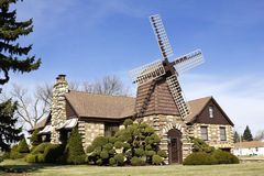 Windmill house Stock Photo