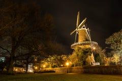 Windmill i Leiden Arkivfoton