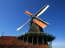 Windmill i Zaanse Schans Arkivfoto