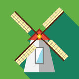 Windmill icon in flat style Royalty Free Stock Photos