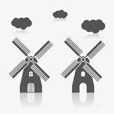 Windmill icon set. Windmill icon as a symbol of windmill royalty free illustration