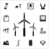 Windmill icon. Set of energy icons. Premium quality graphic design icons. Signs and symbols collection icons for websites, web des. Ign, mobile app on white Stock Photography