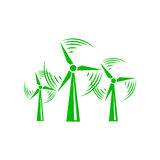 Windmill icon, simple style. Windmill icon in simple style on a white background Royalty Free Stock Photos