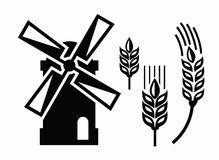 Windmill icons Stock Photos