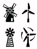 Windmill icons Royalty Free Stock Photo