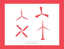 Windmill icons vector set Stock Image