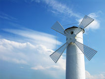 Windmill. And idyllic blue sky Royalty Free Stock Photo
