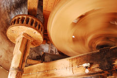 Windmill II. The mill wheel, bringing in the wheat flour, bread flour Royalty Free Stock Image