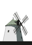 Windmill illustration Royalty Free Stock Photo