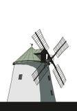 Windmill illustration Royalty Free Stock Photo
