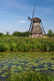 Windmill In The Kinderdijk (The Netherlands) Stock Photos