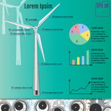 Windmill infographic concept. Vector Royalty Free Stock Photo