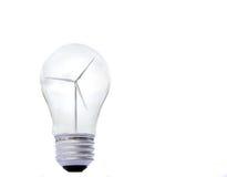 A windmill inside a lightbulb Stock Photography