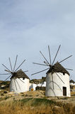 Windmill Ios Island Greece thatch roof Royalty Free Stock Images