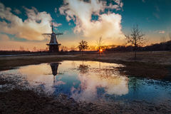 Windmill Island. A beautiful sunset @ Windmill Island,Holland,MI Stock Photography