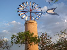 Windmill at island of Majorca in Spain. One of theTypical windmill in the island of Majorca, Spain royalty free stock image