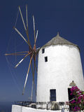 Windmill - Island of Santorini - Greece Royalty Free Stock Images