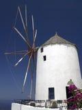 Windmill - Island of Santorini - Greece Royalty Free Stock Images