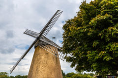 Windmill on Isle of Wight in summer Royalty Free Stock Photography