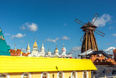 The windmill in Izmailovo Kremlin. Moscow Royalty Free Stock Images