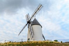 Windmill at Jard-sur-mer, Vendee, France Stock Photography