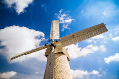 Windmill in Jerusalem Stock Photo