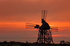 Windmill at Jordhamn, Oeland, Sweden Royalty Free Stock Image