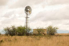 Windmill in the Karoo Royalty Free Stock Images