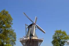 Windmill in Keukenhof. Beautiful Tulips in Keukenhof, Netherlands Royalty Free Stock Image