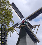 Windmill in Keukenhof Garden Stock Photography