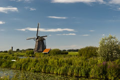 Windmill at Kinderdijk Royalty Free Stock Images