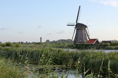 Windmill at Kinderdijk Royalty Free Stock Photo