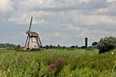 Windmill at Kinderdijk Stock Photography