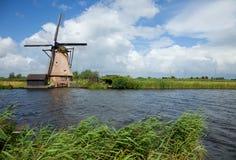 Windmill of Kinderdijk stock images