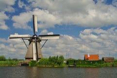 Windmill. Kinderdijk windmill close to rotterdam in netherlands Stock Photos