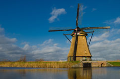 Windmill in Kinderdijk, Holland Stock Photos