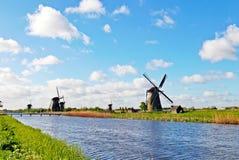 Windmill in Kinderdijk, Holland Stock Image