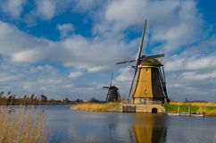 Holland-Windmill in Kinderdijk Stock Images