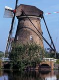 Windmill, Kinderdijk, Holland, Royalty Free Stock Photos