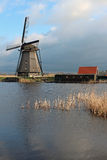 Windmill in Kinderdijk, The Netherlands Stock Photo